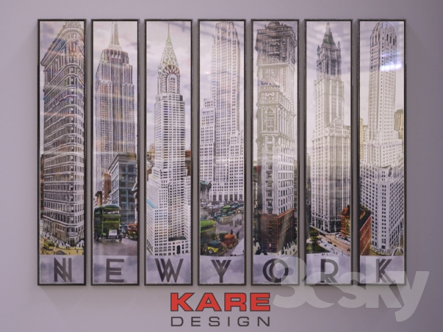 3d models frame kare design new york architecture bilder set. Black Bedroom Furniture Sets. Home Design Ideas