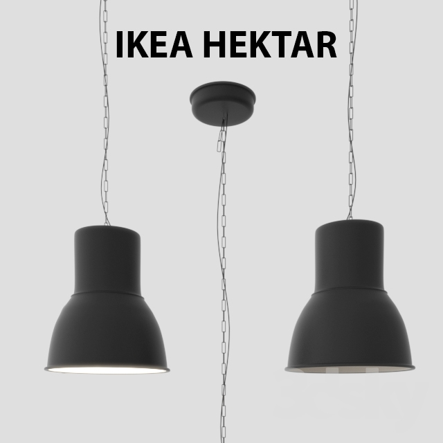 3d models ceiling light ikea hektar ceiling light. Black Bedroom Furniture Sets. Home Design Ideas