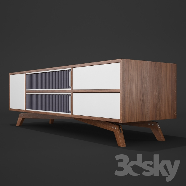 3d models sideboard chest of drawer pli hifi large. Black Bedroom Furniture Sets. Home Design Ideas