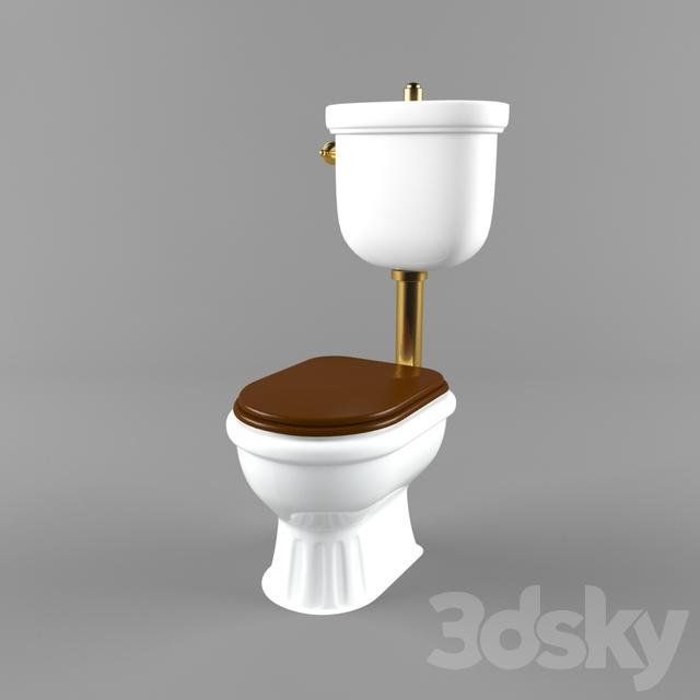 3d models toilet and bidet toilet kerasan retro. Black Bedroom Furniture Sets. Home Design Ideas