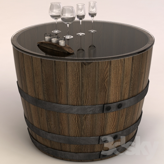3d Models Table Coffee Table Barrel