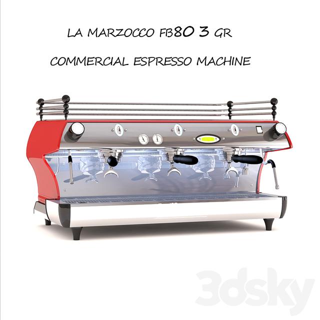 3d models: Kitchen appliance - Espresso machine la marzocco fb80
