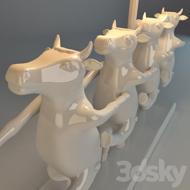 3d models: Table lamp - KARE, Dancing Cows