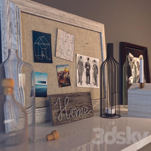 3d models decorative set home decor - Domestication home decor model ...