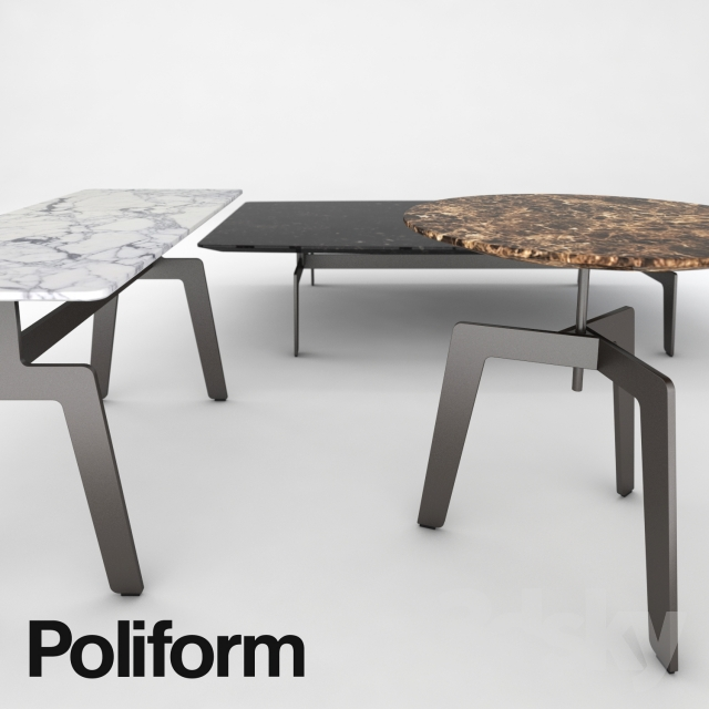 3d Models Table Poliform Tribeca Coffee Table