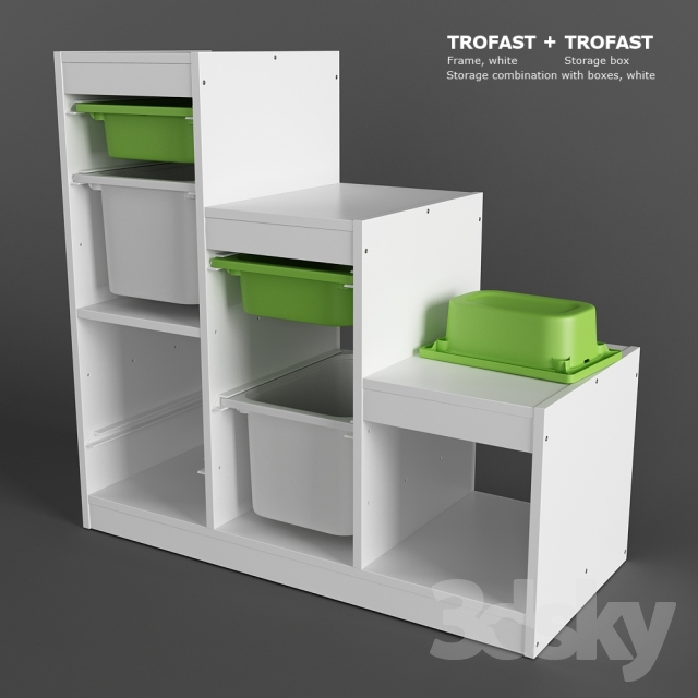 3d models miscellaneous ikea trofast storage. Black Bedroom Furniture Sets. Home Design Ideas
