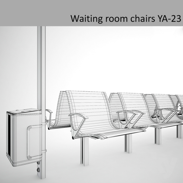 3d models: Chair - Chairs for waiting rooms waiting room chairs YA-23