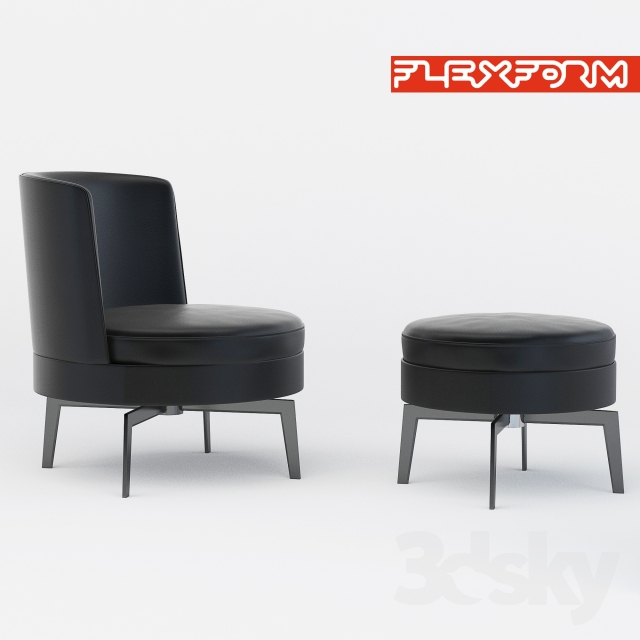 3d Models Arm Chair Flexform Feel Good Armchair