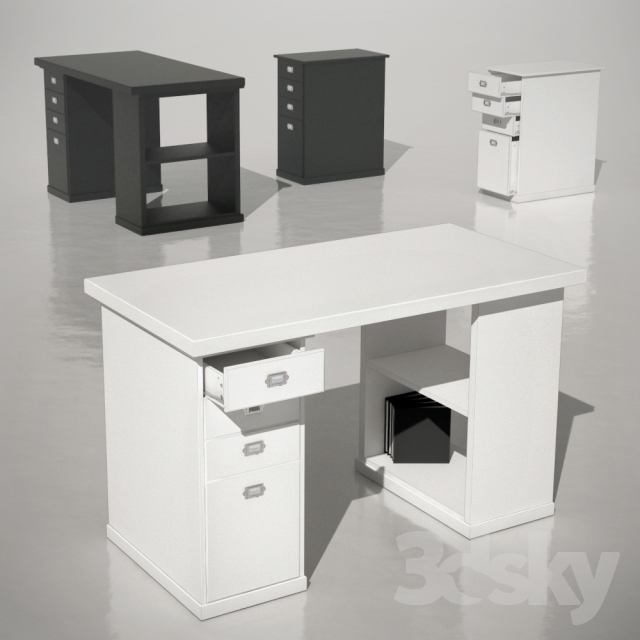 3d models office furniture table dresser klimpen ikea. Black Bedroom Furniture Sets. Home Design Ideas
