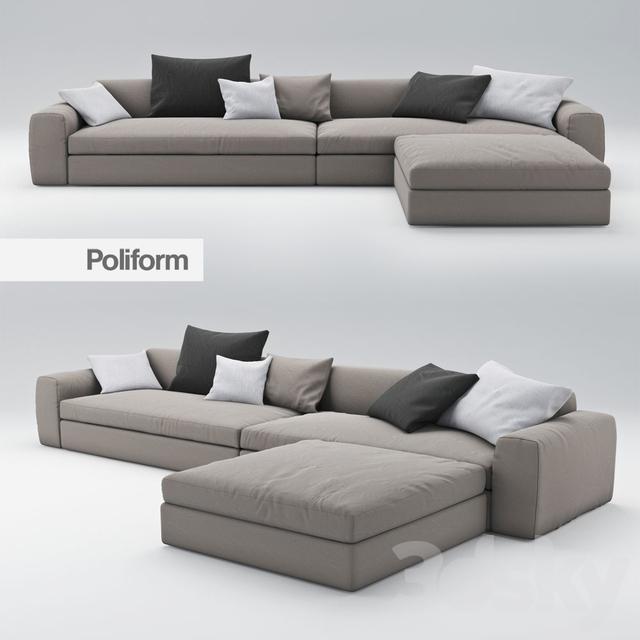 3d models sofa sofa dune poliform 2. Black Bedroom Furniture Sets. Home Design Ideas