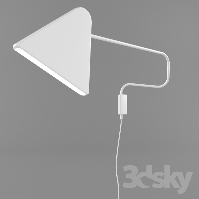 3d models wall light ikea ps 2012 led wall lamp. Black Bedroom Furniture Sets. Home Design Ideas