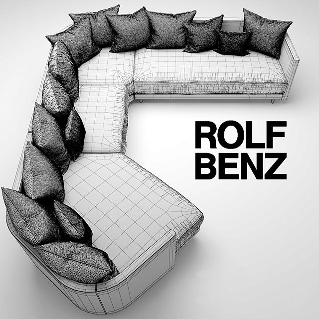 3d models: Sofa - Sofa ROLF BENZ ONDA