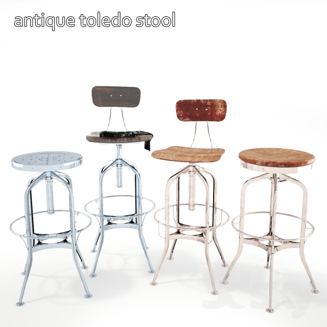 Bar Stool Antique Toledo Stool