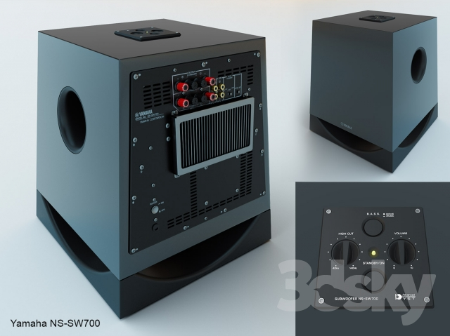 3d models audio tech yamaha ns sw 700. Black Bedroom Furniture Sets. Home Design Ideas