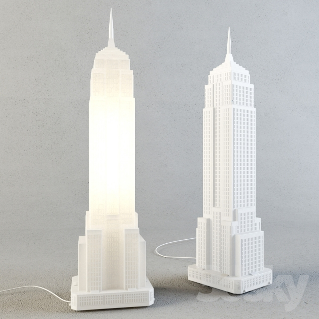 3d models: Table lamp - Empire State Building lamp