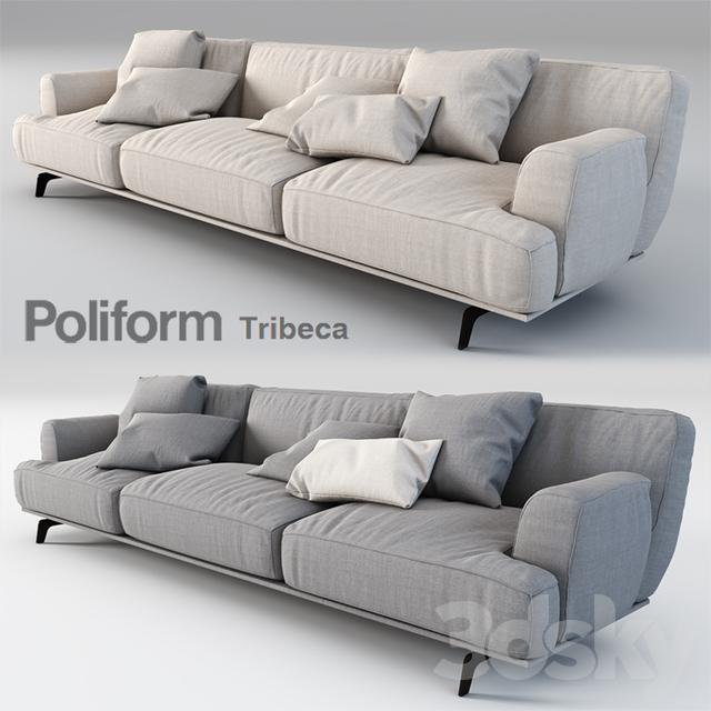 3d models sofa poliform tribeca. Black Bedroom Furniture Sets. Home Design Ideas