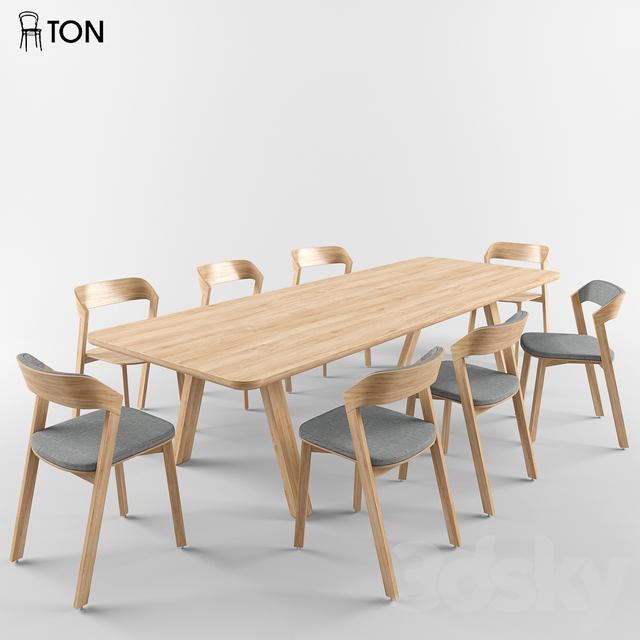 3d Models Table Chair Ton Merano Chair Table Stelvio