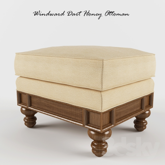 Windward Dart Honey Ottoman