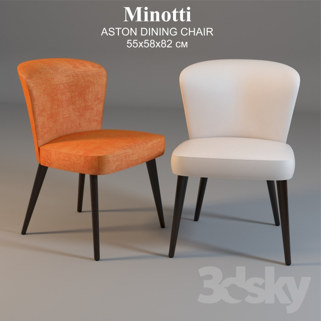 3d Models Chair Minotti ASTON DINING CHAIR 55x58x82