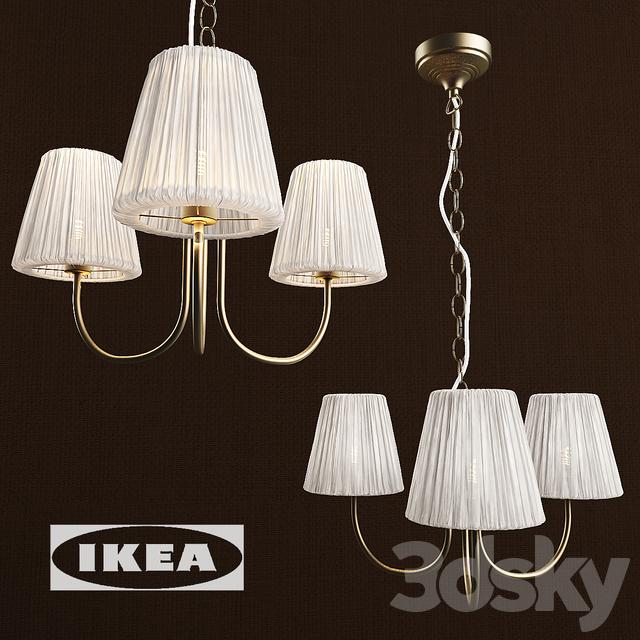 3d models ceiling light hanging lamp arstid hemsta lampshade. Black Bedroom Furniture Sets. Home Design Ideas