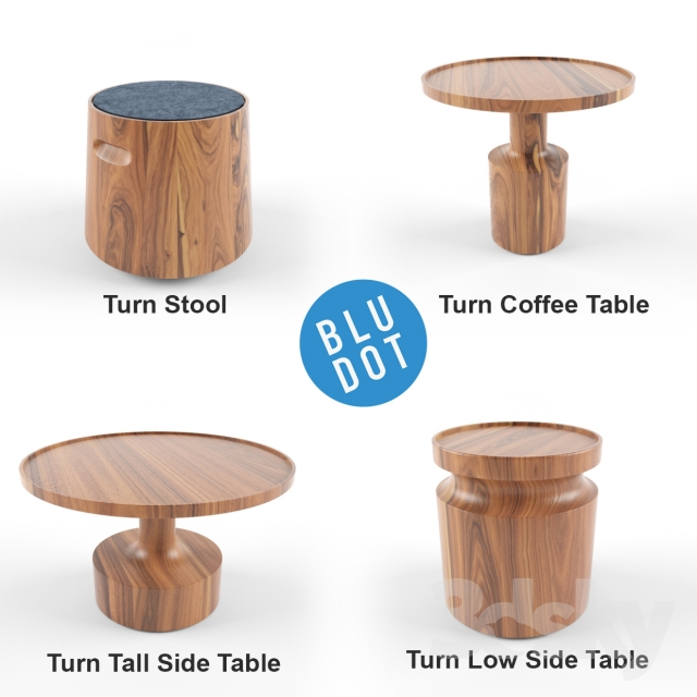 3d Models Table Blu Dot Turn Collection