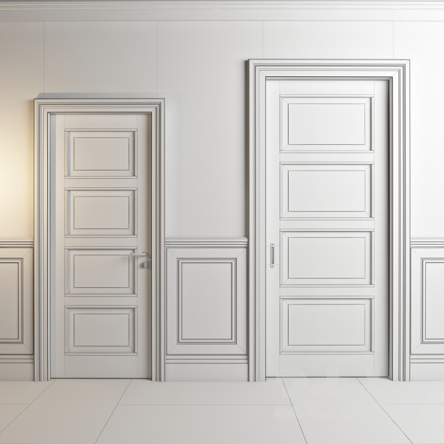 3d Models Doors Classic Doors And Panels Nova De