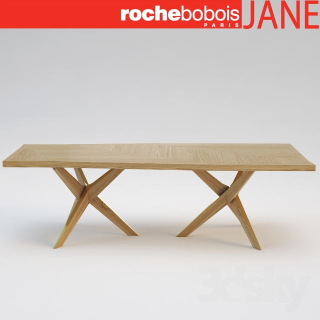 3d models table roche bobois jane dining table for Table ardoise roche bobois