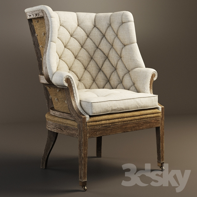 RESTORATION HARDWARE   Deconstructed 19th C. English Wing Chair