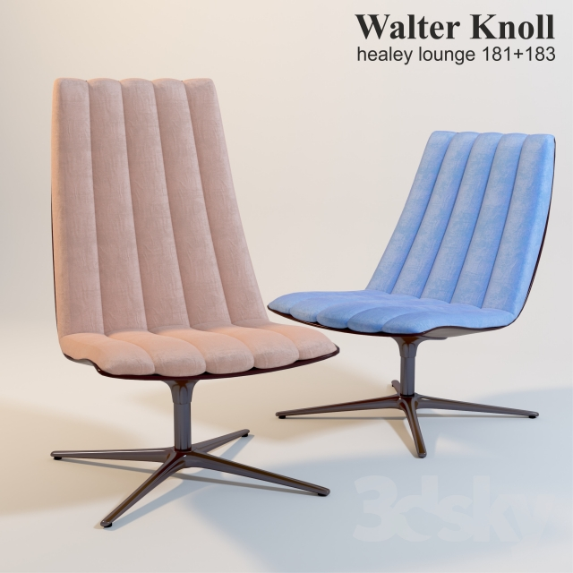 3d Models Arm Chair Walter Knoll Healey Lounge 181 183