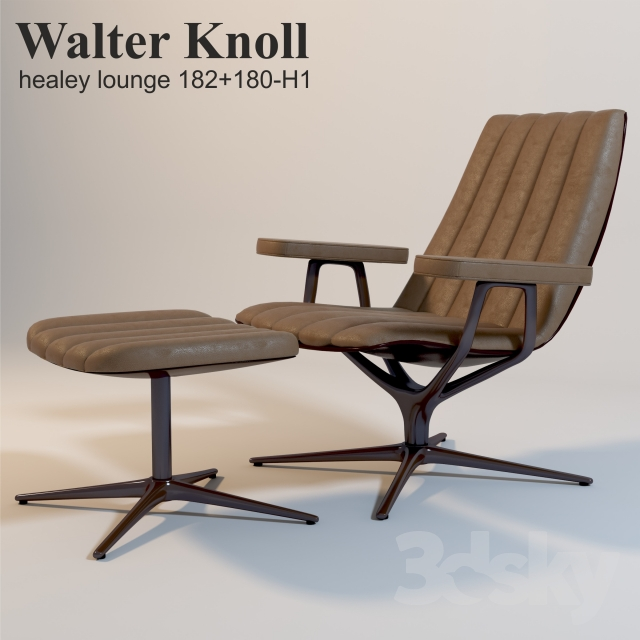 3d Models Arm Chair Walter Knoll Healey Lounge 182 180 H1