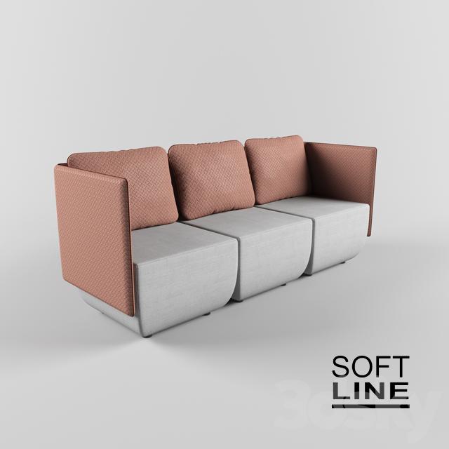 3d Models: Sofa   Softline / Opera Modular Sofa