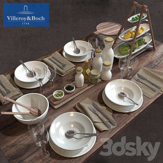 3d models tableware tableware villeroy boch. Black Bedroom Furniture Sets. Home Design Ideas
