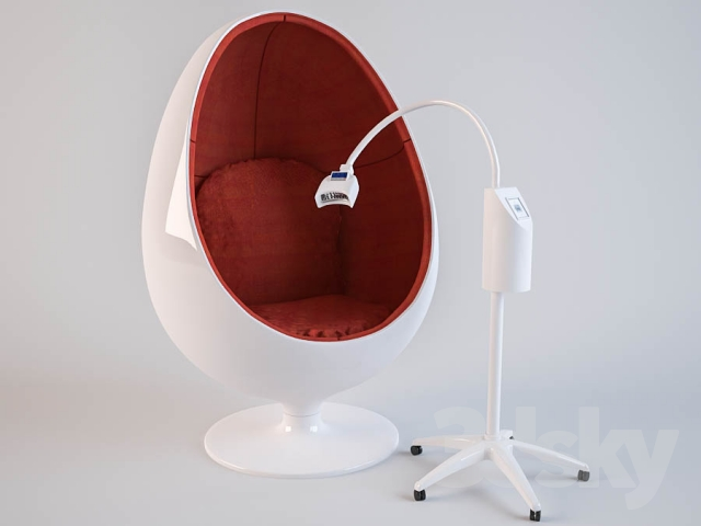 3d Models: Beauty Salon   Chair Egg (Egg Chair) With The Speaker