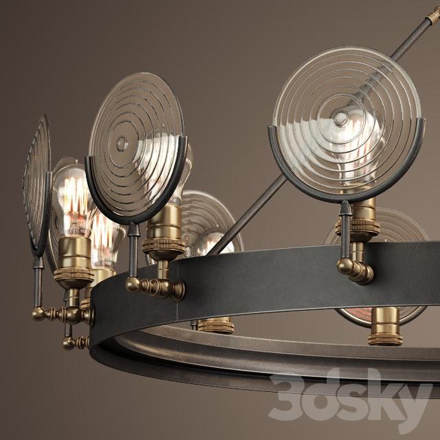 3d models ceiling light rh gaslight lens chandelier 42 quot aloadofball Choice Image