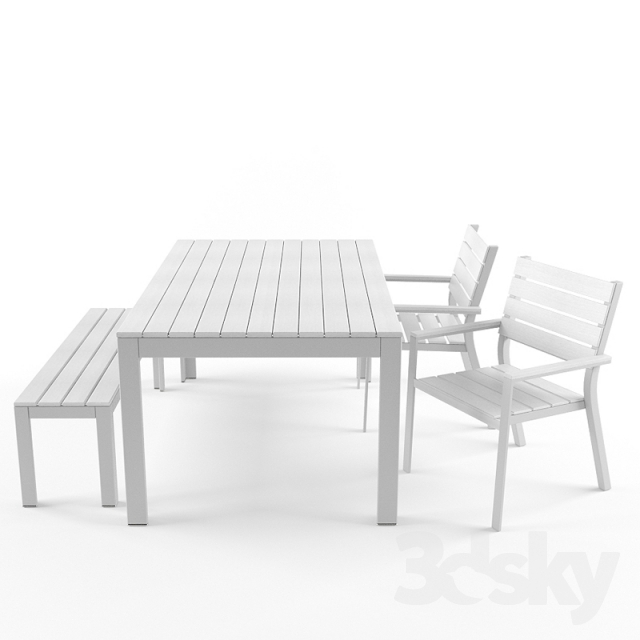 3d Models: Table + Chair   Ikea Falster