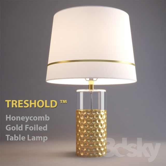 Awesome Table Lamp Threshold Honeycomb Gold Foiled Table Lamp
