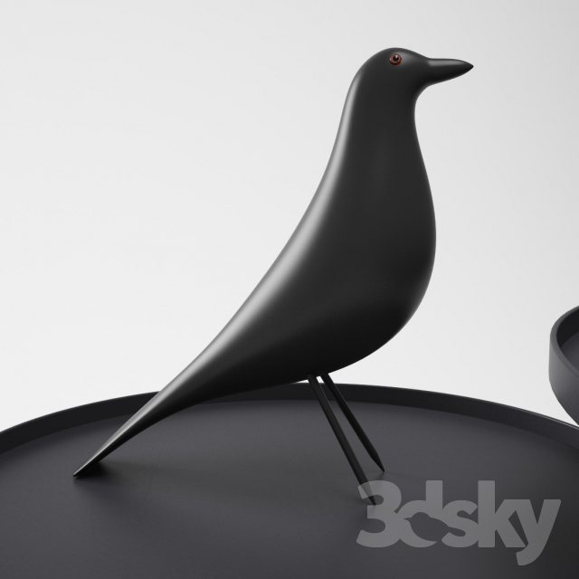 3d models: Table - Vitra Eames House Bird