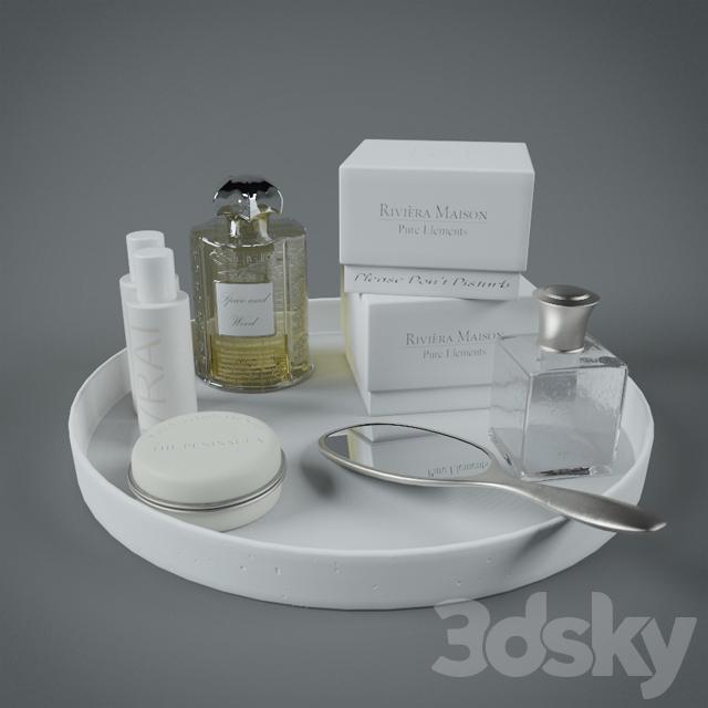 3d models bathroom accessories decorative set for Fancy bathroom accessories sets
