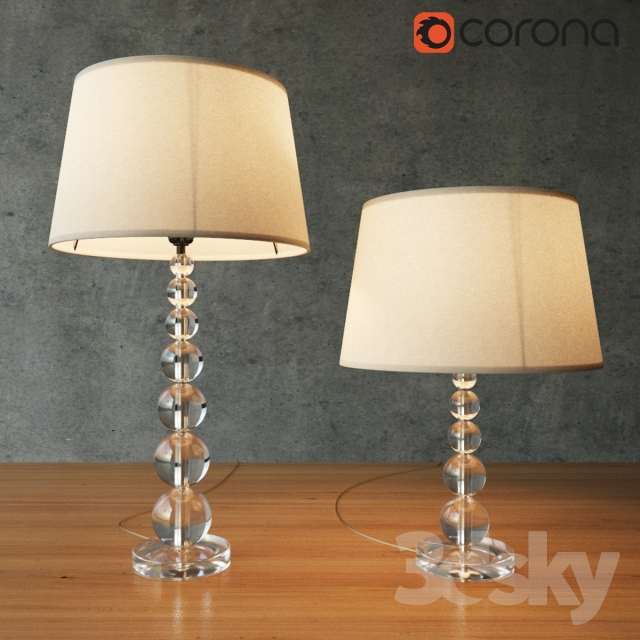 3d Models Table Lamp Pottery Barn Stacked Crystal Table Amp