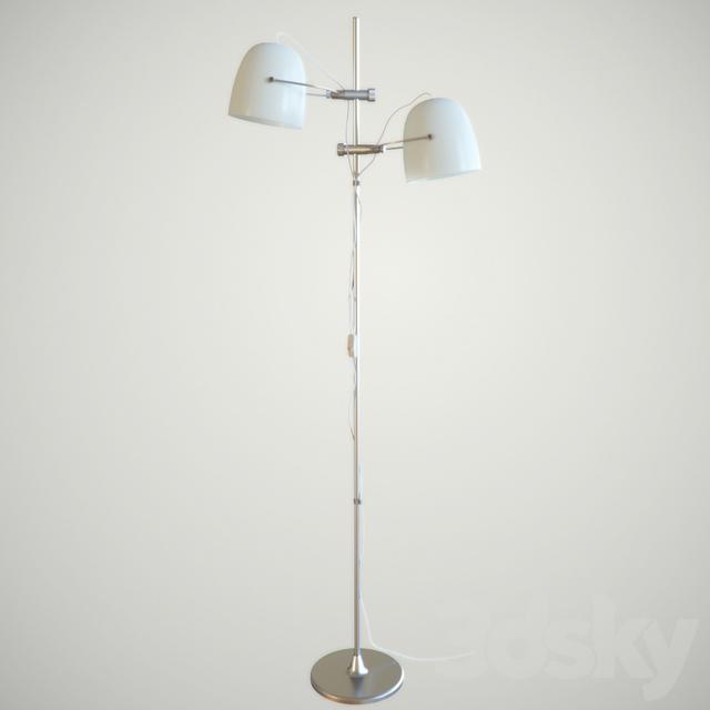 3d models floor lamp ikea svirvel floor lamps for Ikea 3 light floor lamp