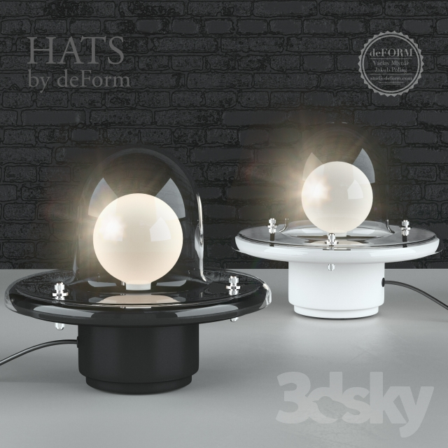 Hats by deFORM table