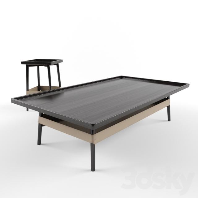 3d models table roche bobois basket coctail low tables for Table basse verre roche bobois