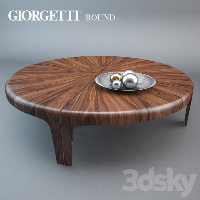 Kinsella Coffee Table: Giorgetti Round Table