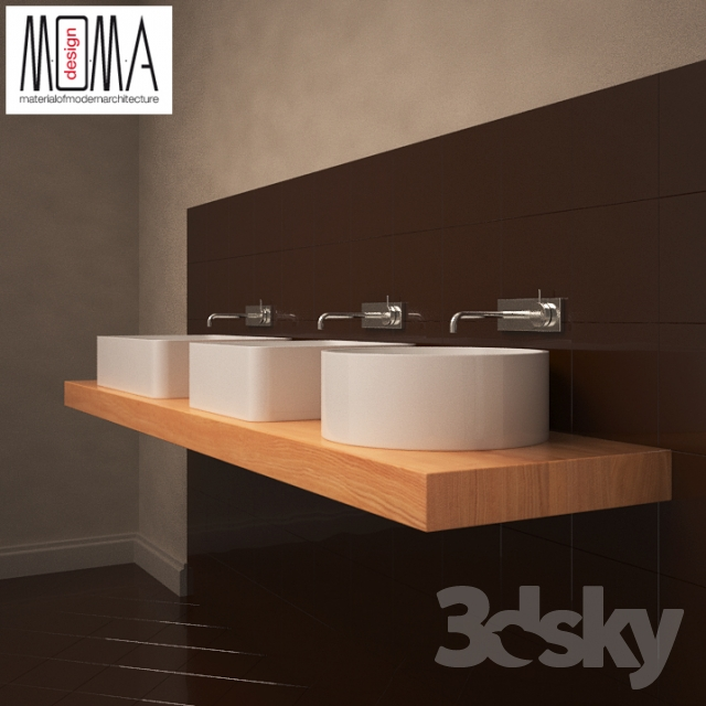 3d models wash basin moma design jump collection for Moma design collection