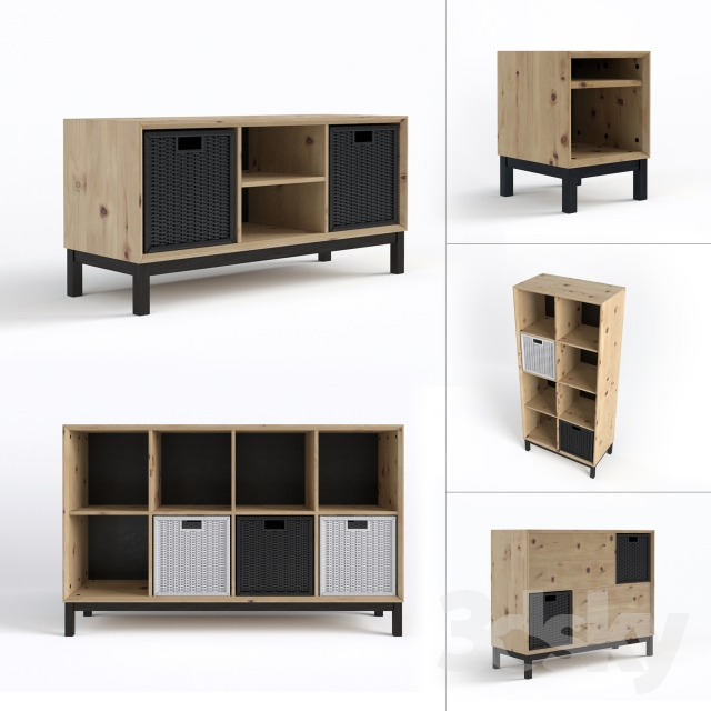 3d models sideboard chest of drawer ikea nornas. Black Bedroom Furniture Sets. Home Design Ideas