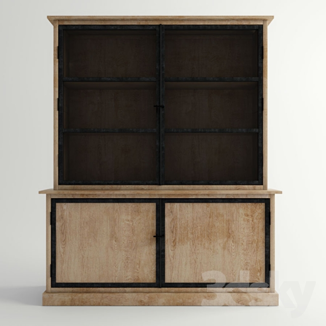 3d models wardrobe display cabinets sideboard archibald maison du monde. Black Bedroom Furniture Sets. Home Design Ideas