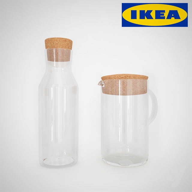 3d models tableware ikea 365 jug and carafe. Black Bedroom Furniture Sets. Home Design Ideas