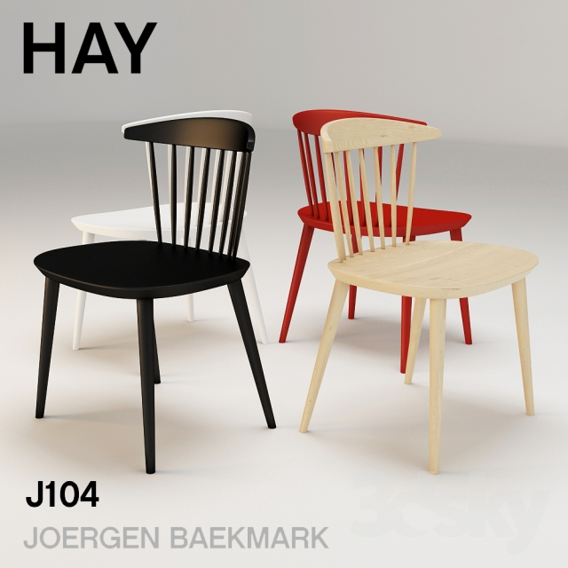 3d models chair hay j104. Black Bedroom Furniture Sets. Home Design Ideas