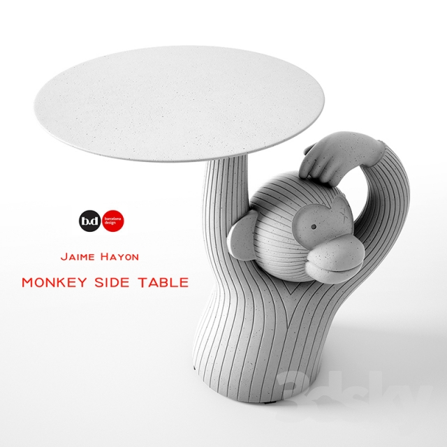 3d Models: Table   MONKEY SIDE TABLE