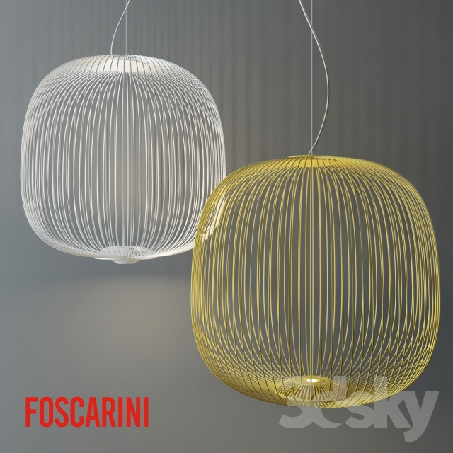 3d Models Ceiling Light Foscarini Spokes